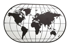 Large World Map Wall Mirror - 100cm