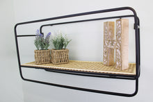 Wall Hanging Shelf Unit with Metal Weave Effect - Small or Large