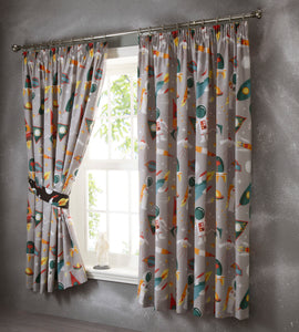 Spaceman Pleat Curtains
