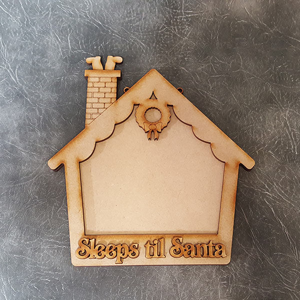 Customisable Wooden 'Sleeps til Santa' Chalkboard Countdown Sign
