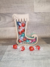 Customisable Wooden Christmas Stocking (Chocolate) Holder - can be Personalised