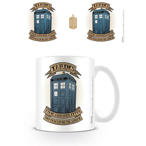Doctor Who Tardis (Tattoo Effect) Mug