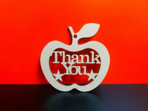 Wooden 'Thank You' Hanging Apple - perfect gift for a teacher