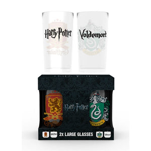 Harry Potter Crest Pack (Gryffindor & Slytherin) - Twin Pack