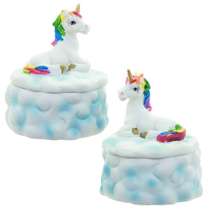 Rainbow Unicorn Cloud Resin Trinket / Jewellery Box