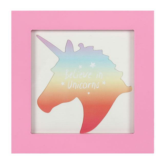 Small Pink Unicorn Plaque Frame