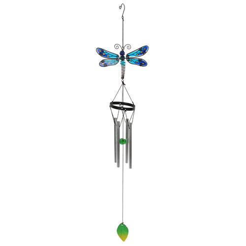 Blue Spotted Dragonfly Suncatcher and Windchime