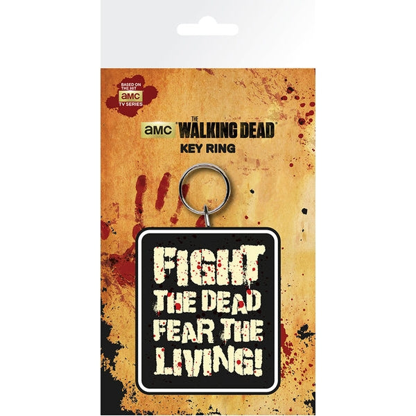 The Walking Dead Fight the Dead Keyring - Free Shipping