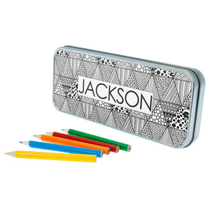 Personalised Abstract Sketch Pencil Case (with or without pencils)