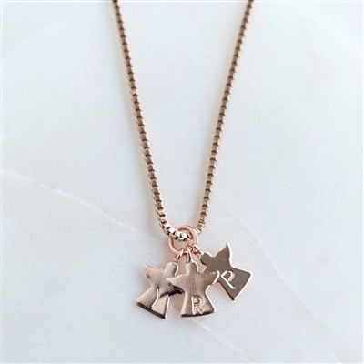 Personalised Mummy's Little Angels Gold or Rose Gold Plated Necklace