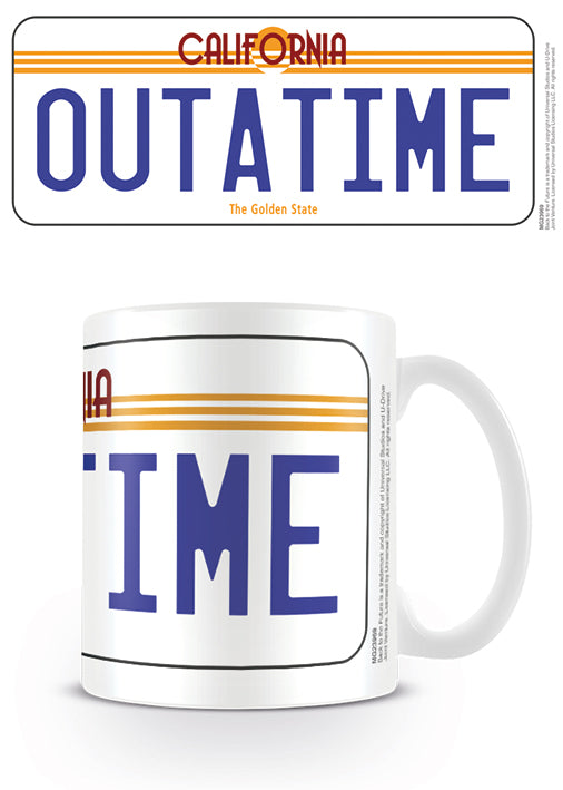 Back To The Future License Plate Ceramic Mug