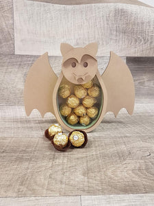 Customisable Wooden Bat (Chocolate) Holder (Halloween) - Can be Personalised