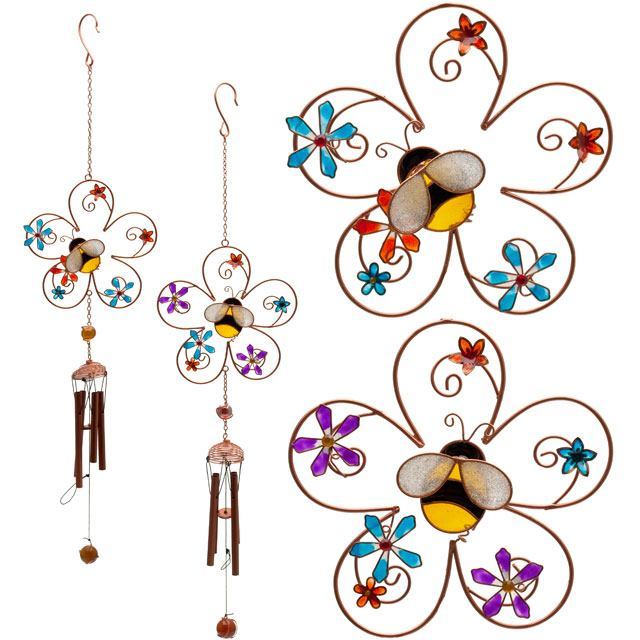 Bee and Flower Suncatcher and Windchime