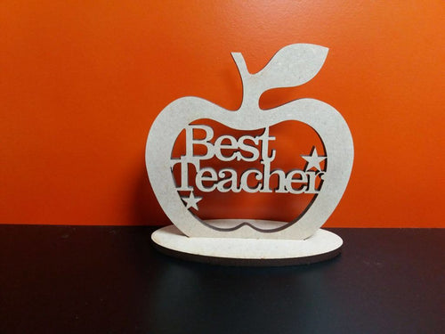 Wooden Best Teacher Apple With Stand