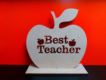 Wooden 'Best Teacher' Apple With Stand