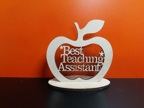 Wooden Best Teaching Assistant Apple With Stand