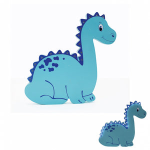 Blue Wooden Dinosaur LED Light