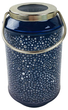 Bubble Ridge Hanging Lantern - Available in Blue and Light Blue (18cm and 25cm)