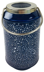 Bubble Ridge Hanging Lantern - Available in Blue, Light Blue, Turquoise & Navy (18cm and 25cm)