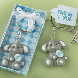 Baby Elephant Keyring - Available in Blue or Pink
