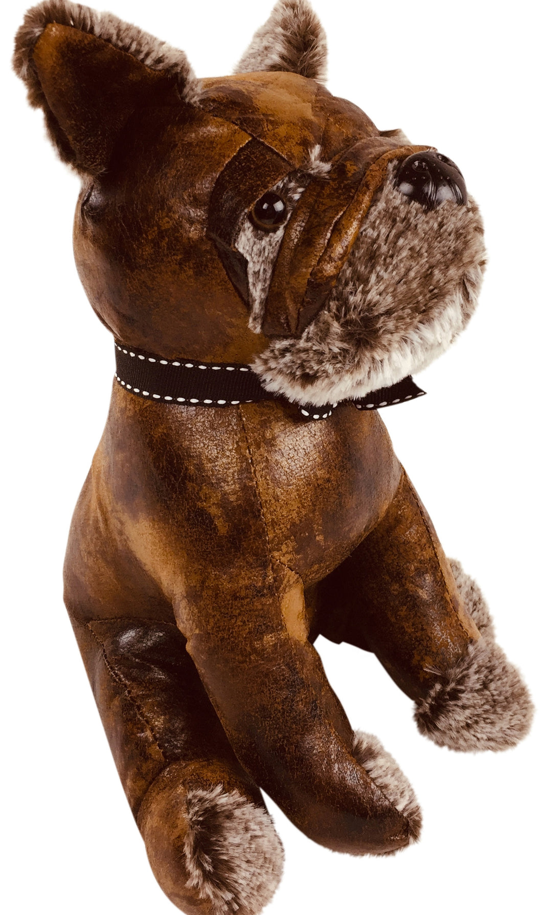 Faux Leather Bulldog Door Stop