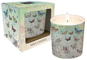 Patterned Butterfly Ceramic Candle Pot