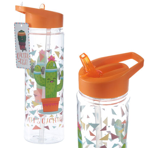 Cactus 'Lets Cactercise' Water Bottle 500ml