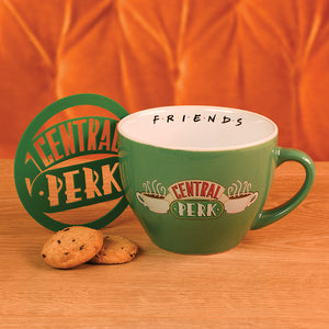Friends 'Central Perk' Green Coffee / Cappuccino Mug with Stencil