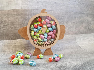 Customisable Wooden Little Chick for Small Chocolates (Can also be Personalised) - Perfect for Easter