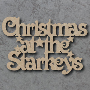 Customisable Wooden 'Christmas At The 'Name'' Sign