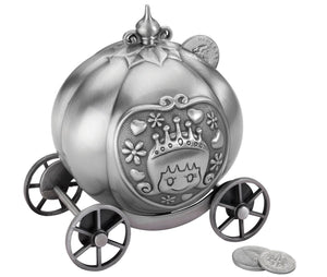 Lillian Rose Fairytale Carriage Pewter Money Box