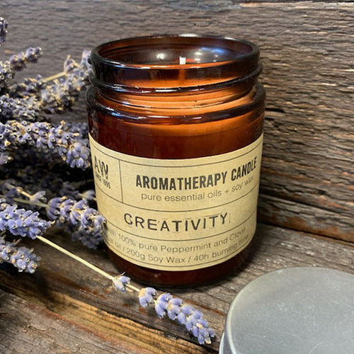 Aromatherapy Soy Wax Candle (200g) - Creativity (Vegan)