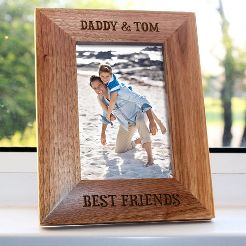Personalised Wooden (Oak) Best Friend Engraved Photo Frame