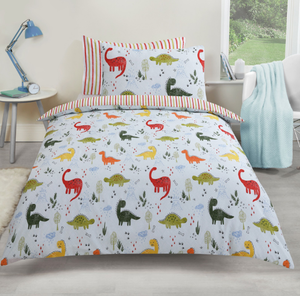 Dinosaur 'Dino World' Reversible Duvet Cover Set - perfect for Children