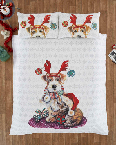 Ivy and Snowy Christmas Duvet Cover Set