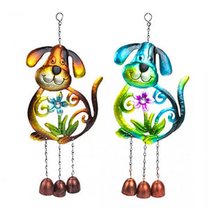 Metal Dog Garden Windchime - Two Designs available
