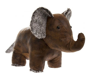 Faux Leather Elephant Door Stop