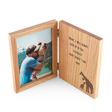 Personalised Engraved Father's Day Giraffe Character Book Photo Frame