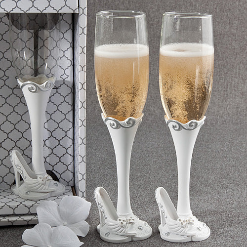 Once Upon A Time Fairy Tale Design Toasting Flutes