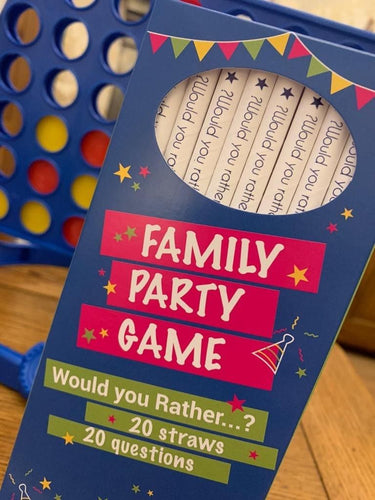 Family 'Would You Rather' Straw Game - Box of 20 Paper Straws
