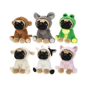 Fancy Dress Pug Soft Toys - Choice of Twelve Available