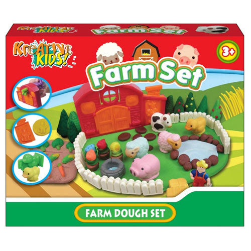 Childrens Farm Dough Craft Set