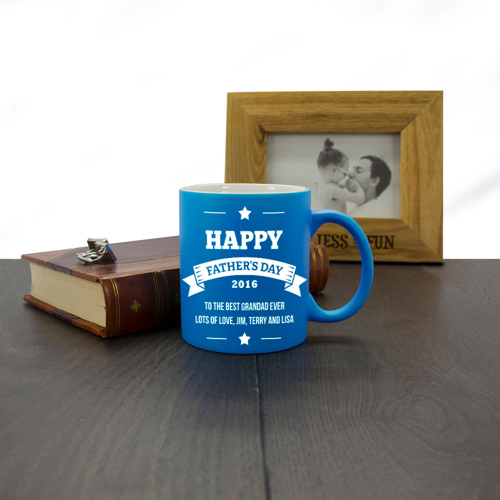 Personalised 'Happy Father's Day' Mug