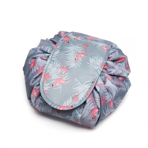 Ultimate Flamingo Drawstring Travel Make-up/Cosmetic Bag - Available in Blue or Green