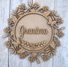 Customisable Wooden Layered Floral Wreath - Ideal gift for Mother's Day