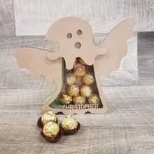 Customisable Wooden Ghost (Chocolate) Holder (Halloween) - Can be Personalised