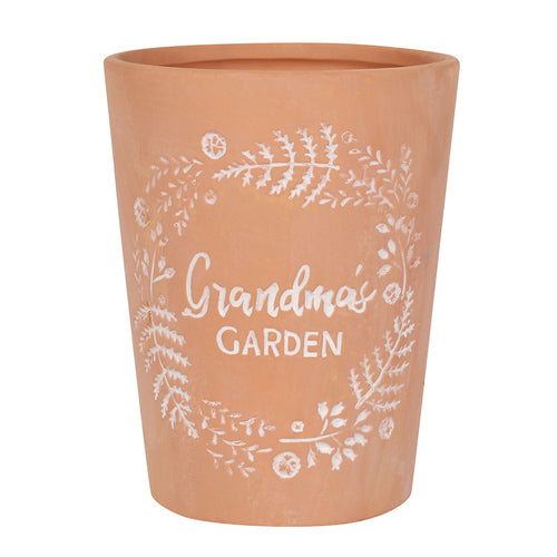 Terracotta Plant Pot - 'Grandma's Garden' - Suitable for Any Occasion