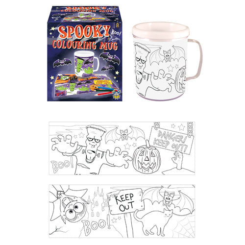 Childrens Colour Your Own Halloween (Plastic) Mug