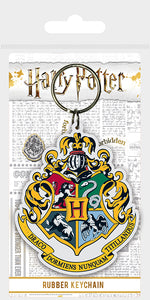 Harry Potter Hogwarts Crest Keyring - Free UK Shipping
