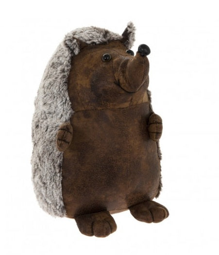 Faux Leather Hedgehog Door Stop